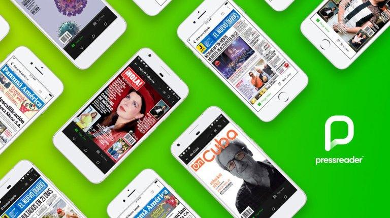 PressReader is ook gemakkelijk te lezen op mobiele apparaten (Bron: PressReader)