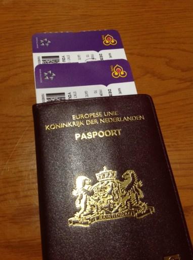 Thai airways, boarding pass