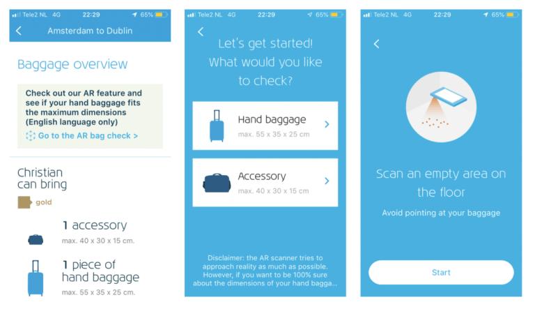 Met de feature kun je zowel handbagage als ruimbagage scannen