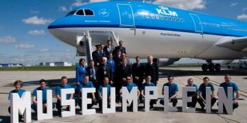 De KLM A330-200 genaamd 'Museumplein'
