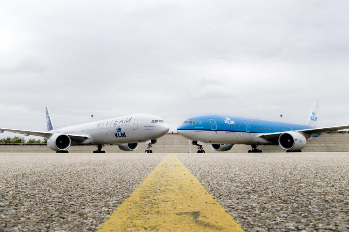 KLM 777 SkyTeam livery
