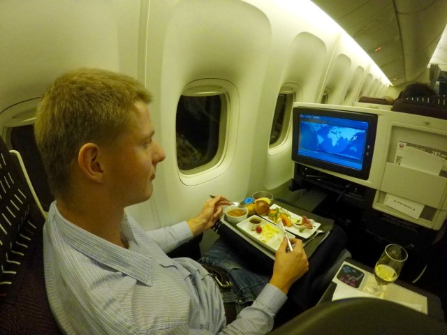 Japan airlines, boeing 767, business class