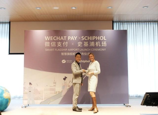 Schiphol is nu officieel een WeChat Pay Flagship Smart Airport (Bron: Schiphol)