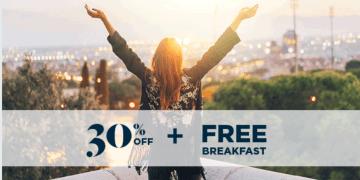 30% korting & ontbijt bij overnachting tussen december & maart bij AccorHotels