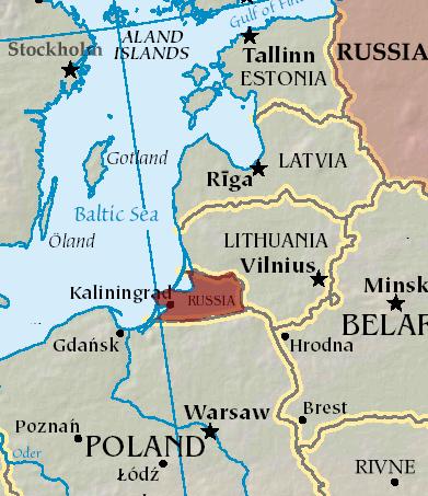Plattegrond met Kaliningrad