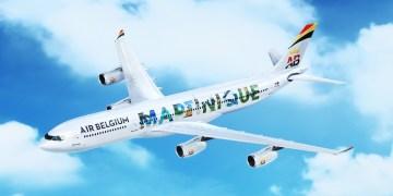 Air Belgium A340 met nieuwe livery (Bron: Air Belgium)