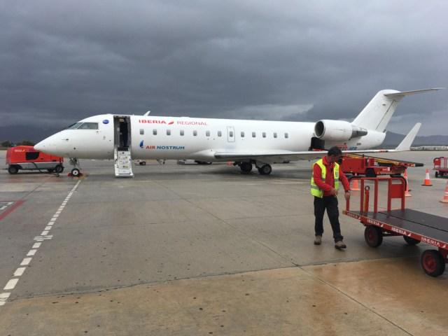 Business class Iberia Air Nostrum