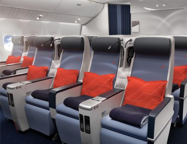 Nieuwe Premium Economy cabine aan boord van de Air France Boeing 777-300 (Bron: Air France)