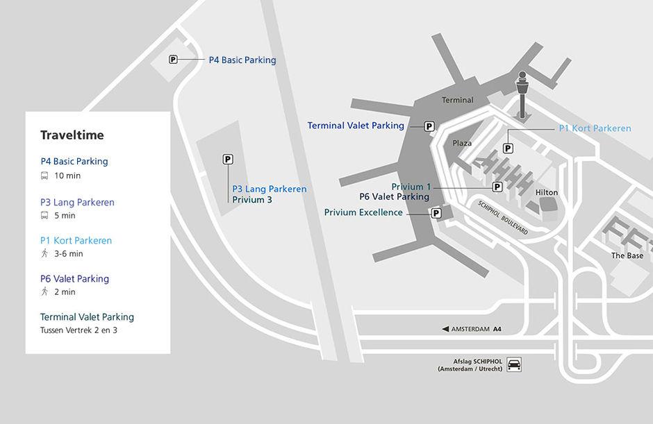 Parkeerlocaties Schiphol Parking