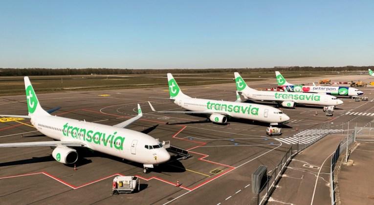 Boeing 737 toestellen van Transavia op de luchthaven (Bron: Transavia)