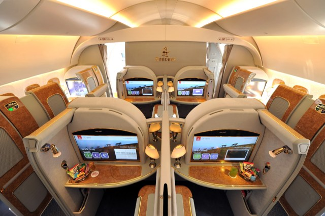 De exclusieve First Class cabine aan boord van de Airbus A380 van Emirates (Bron: Emirates)
