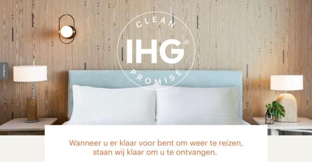 IHG zet zich in voor extra hygiëne Met de IHG Clean Promise / Way of Clean (Bron: IHG Hotels)