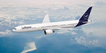Boeing 777-9 in Lufthansa livery (Bron: Lufthansa)