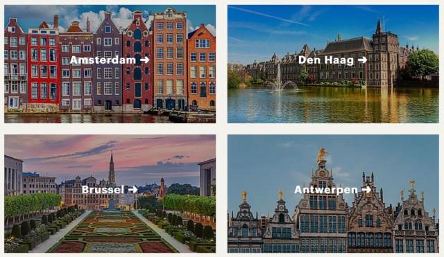 Enkele bestemmingen die IHG aanraadt (Bron: IHG Hotels)