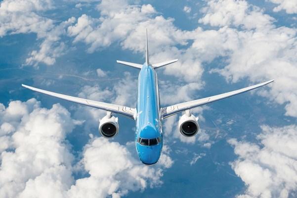 Nieuwste KLM Embraer 195-E2 is onderweg naar Nederland