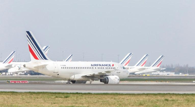 Airbus A318 van Air France op de landingsbaan (Bron: Air France)