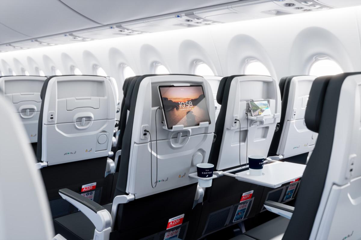 De stoelen zijn van alle gemakken voorzien (Bron: Air France)