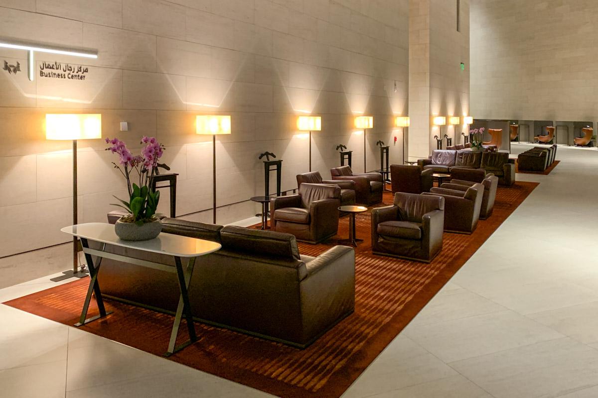 Qatar Airways Al Safwa First Class Lounge har sitteplass for mer enn 500 gjester