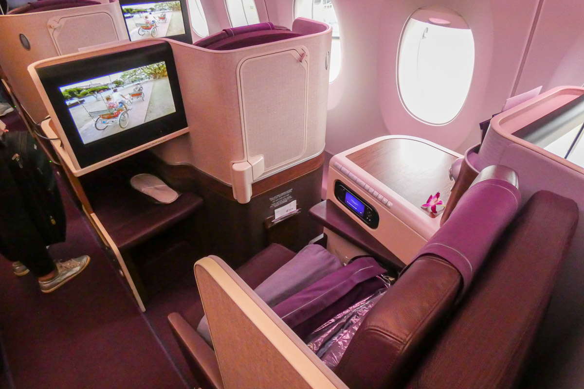 Thai Airways Airbus A350 business class sete