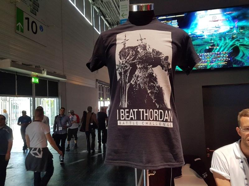 Final Fantasy Shirt die zweite: Meldet euch für den Kampf gegen einen Endboss und ihr erhaltet wenn ihr gewinnt dieses T-Shirt (Halle 9)