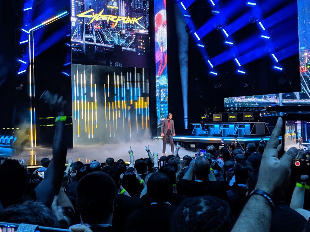 Keanu Reeves auf der Xbox Bühne