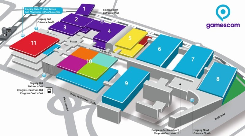Hallenplan gamescom 2019