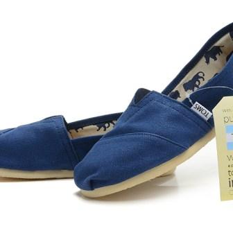 Toms Farrin Men's Bimini Stitchouts Shoes Blue