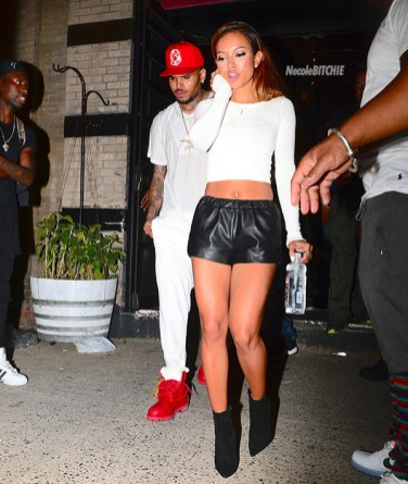 EXCLUSIVE: Chris Brown and On-Again Girlfriend Karreuche Tran Party in NYC with Trey Songz