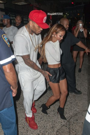 EXCLUSIVE: Chris Brown and Karrueche Tran party at Rihannas favorite party spot