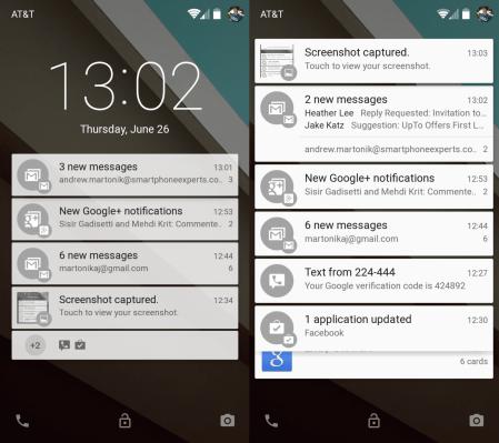 Android-L-Lockscreen-screenshots