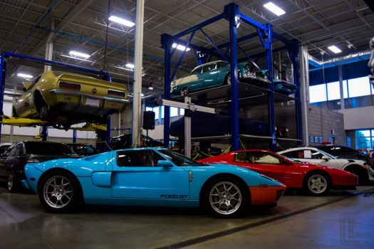 Ford versus Ferrari at Engineered Automotive Cars and Coffee in Toronto
