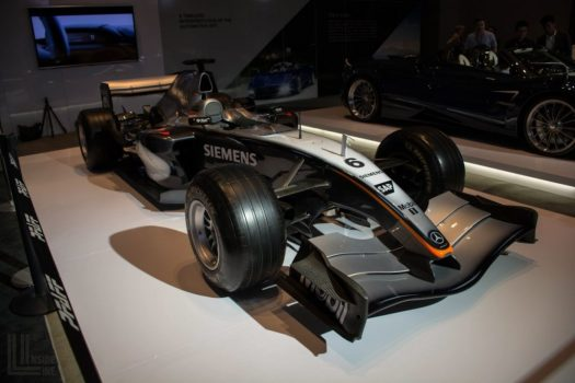 McLaren MP4-19B Formula One racecar at the 2018 Canadian International Auto Show in Toronto