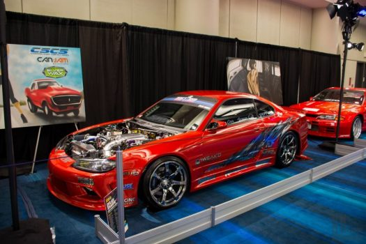 Toronto Auto Show CIAS 2018 PASMAG Tuner Battlegrounds - Nissan Silvia S15 drift car inspired by the HKS Hyper Silvia that competed in D1 in the 2000s.