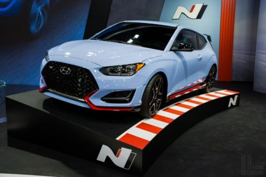 Toronto Auto Show CIAS 2018 - Hyundai Veloster N in the beautiful Performance Blue.