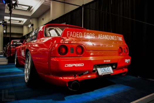 Toronto Auto Show CIAS 2018 PASMAG Tuner Battlegrounds - First R32 Nissan Skyline GTR in Toronto with the Rocket Bunny Pandem widebody kit.