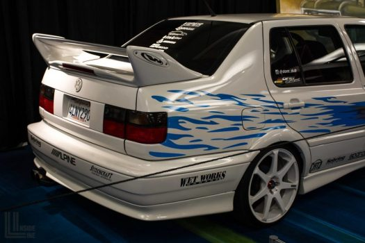 """Toronto Auto Show CIAS 2018 PASMAG Tuner Battlegrounds - faithful replica of the Volkswagen Jetta, driven by Jesse from the original """"The Fast and the Furious"""" movie."""