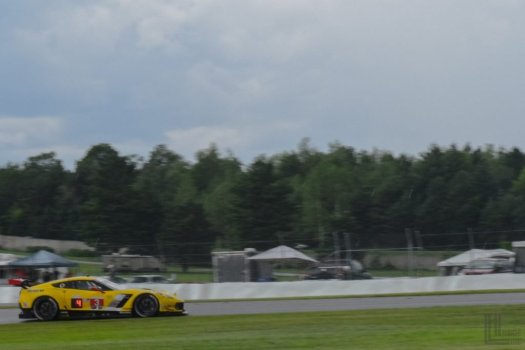 Number 3 Corvette C7.R in the rain, taken at the 2017 IMSA race weekend at CTMP.