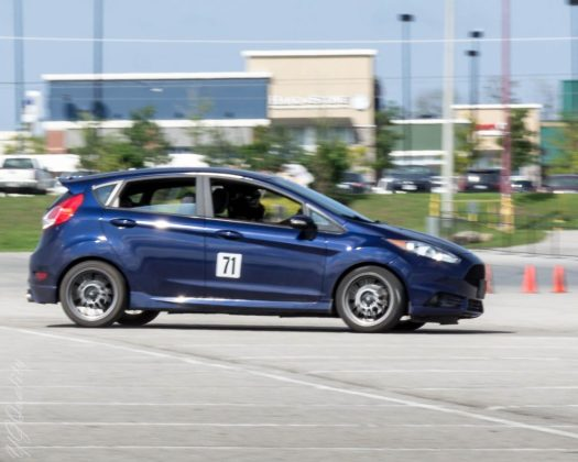 Ford Fiesta ST with BC Racing Coilovers - First Handling Test at Autocross