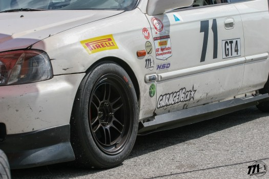 Luckily, the 771 Motorsports Honda Civic only suffered minor damages from going off-course on Turn 3 in Race 1.