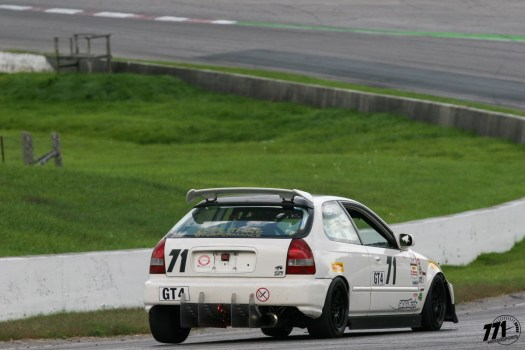 Immense elevation drop at turn 2 of Canadian Tire Motorsports Park (CTMP) leads to a lot of front-wheel drive tripods!