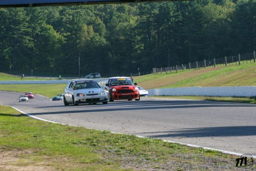 The GT4 battle for race 2 intensified with the MINI Cooper S joining the fray!
