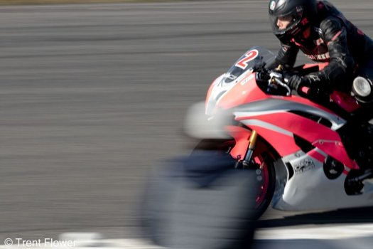 Kayla Hannaford on the front straight at Shannonville Motorsport Park
