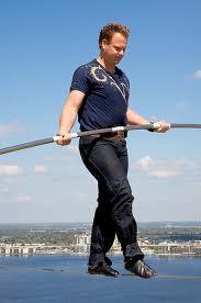 Inside Magic Image of Daredevil Nik Wallenda Walking High Wire in Sarasota Florida