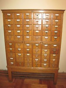 Vintage-antique-oak-library-card-catalog-remington-rand--2
