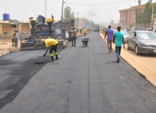 Road contruction projects in Lagos