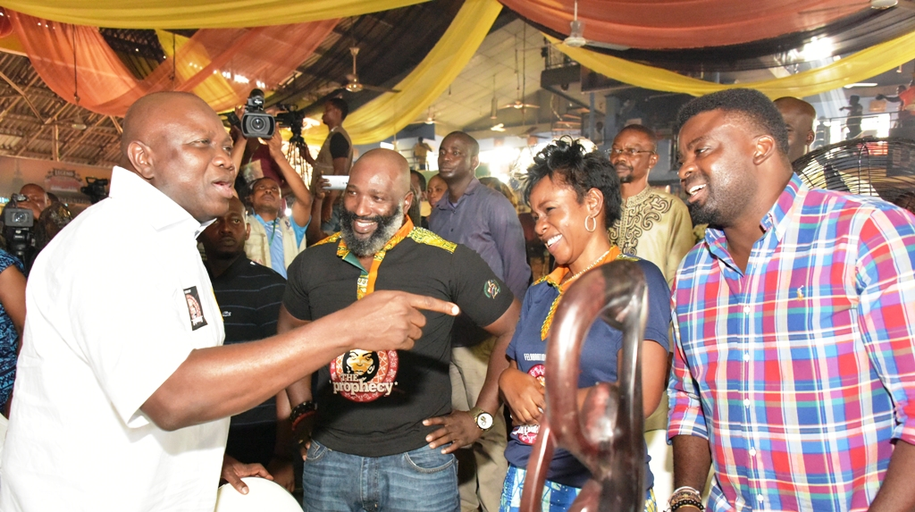 Pictures: The moment Governor Ambode visited Fela Shrine, Ikeja