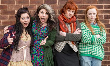Raised by Wolves: Caitlin Moran and her sister with the girls who are portraying them