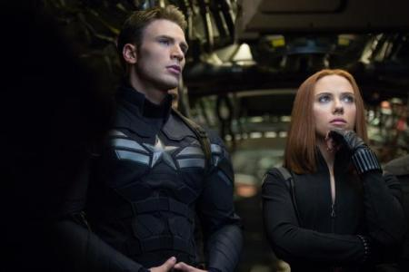 Chris Evans picks up his shield to fight in The Winter Soldier