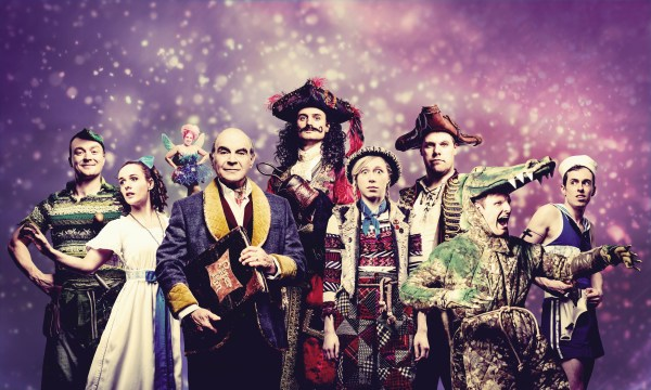 WARNING: Embargoed for publication until 00:00:01 on 22/11/2016 - Programme Name: Peter Pan Goes Wrong - TX: n/a - Episode: n/a (No. n/a) - Picture Shows: **PLEASE CREDIT PHOTOGRAPHER IDIL SUKAN** (L-R) Jonathan/Pan (GREG TANNAHILL), Sandra/Wendy (CHARLIE RUSSELL), Annie/Tinkerbell (NANCY ZAMIT), Narrator (DAVID SUCHET), Chris/Hook (HENRY SHIELDS), Lucy/Tootles (ELLIE MORRIS), Robert/Starkey (HENRY LEWIS), Max/Crocodile (DAVE HEARN), Dennis/Smee (JONATHAN SAYER) - (C) BBC - Photographer: Idil Sukan