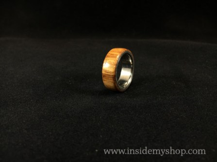 Titanium & Ironwood ring
